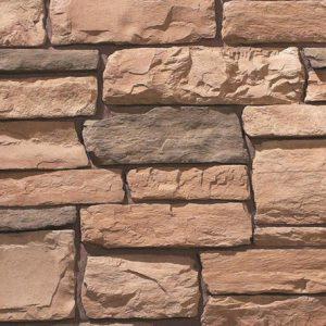 veneer stone cladding - colour amber